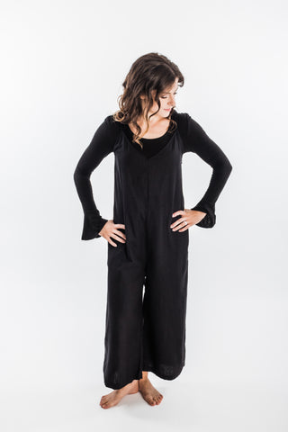 Ali Golden V-Neck Jumper Silk | Women's Jumpsuits | Joon + Co. Ethical Fashion