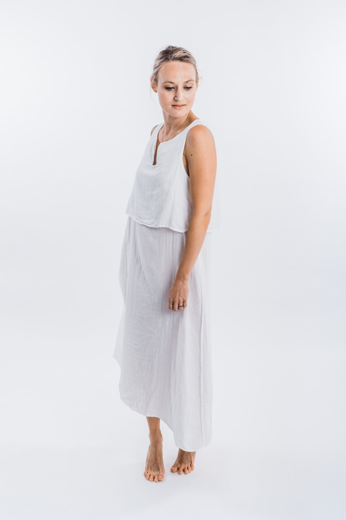 4-Way Gauze Dress w/Belt