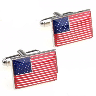 American Flag Cufflink Cuff Link 2 Pairs Free Shipping Promotion