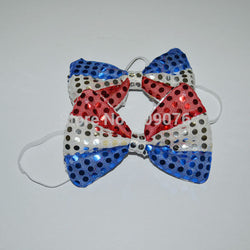 Red White Stars-and-Stripes Bow Tie For Evening Party