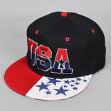usa cap flat Snapback Hip Hop hat Popular Baseball Cap cotton American flag Hat Adjustable men woman Girls Boys Sun Cap c10