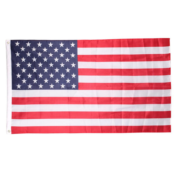 Polyester USA American Flag US United States Stars Stripes