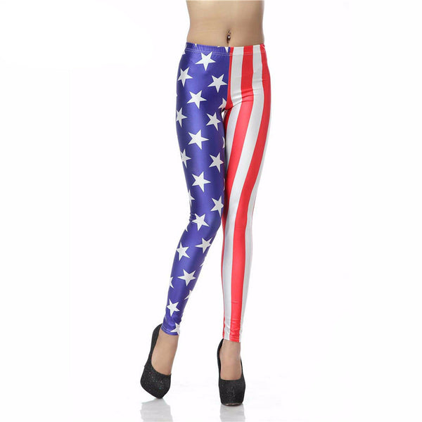 Legging American Flag Legins Star Stripe Digital Leggins Printed Women Leggings Women Pants