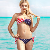 Stars And Stripes USA Flag Bikini Padded American Flag