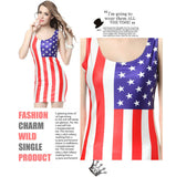 Summer Women Dress For Women USA Girl Lady Dress American Flag Dresses