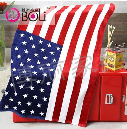 1pcs/lot American Flag Bath towel