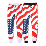 Men Women Jogger Pants American Flag Printed Harem Unisex Jogger Pants