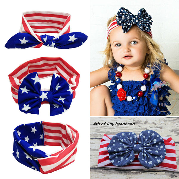 4th of July Girls Twist Turban Independence Day Headband