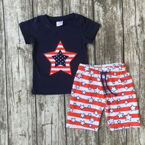 Baby Boys Patriotic Durable Cotton Outfit