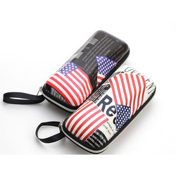 Cute Glasses Cases Print American Flag Optic Sunglasses Case Box