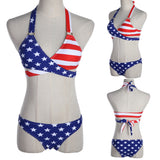 Stars And Stripes USA Flag Bikini Padded Swimsuit