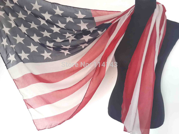 Patriotic US American Flag Like Big Stars Print Shawl Wrap