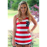 Fashion NEW sleevless Vest tide plus size loose lovely ladies shirt bat american flag Tank Tops