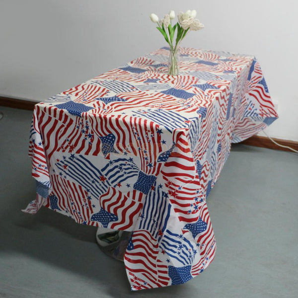 Star Striped Table Runner US Independent Day July 4th Wedding Birthday Party Tableware Partyware