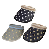 Mens Womens Summer Straw Navy American Flag Star Sun Visor Hats