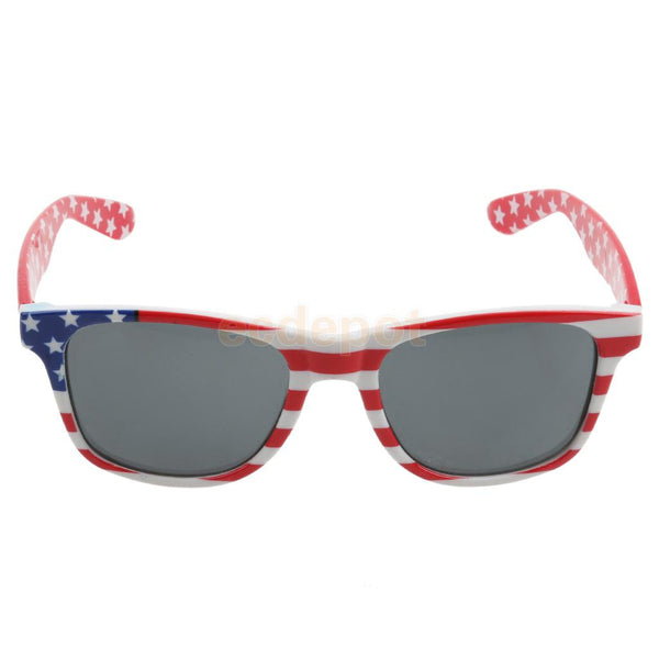 Novelty Fancy Dress Sunglasses U.S. American Flag Stars Patriot Print