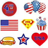 25pcs 4th Of July Photo Booth Props Kit Night Games Accessories Party Favors
