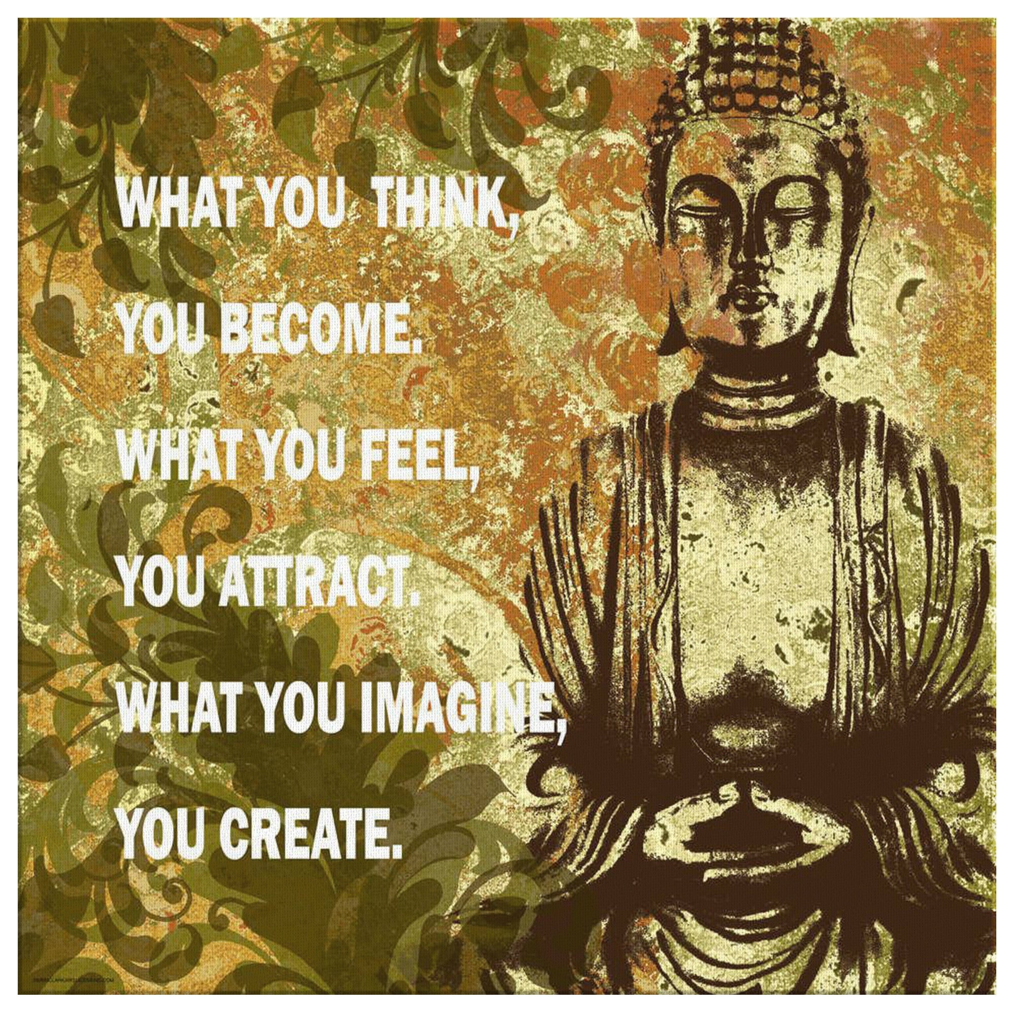 Inspirational Buddha Statue Wall Canvas – Tremoge