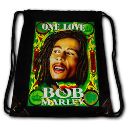 "Bob Marley ""One Love"" Canvas Drawstring Bag"