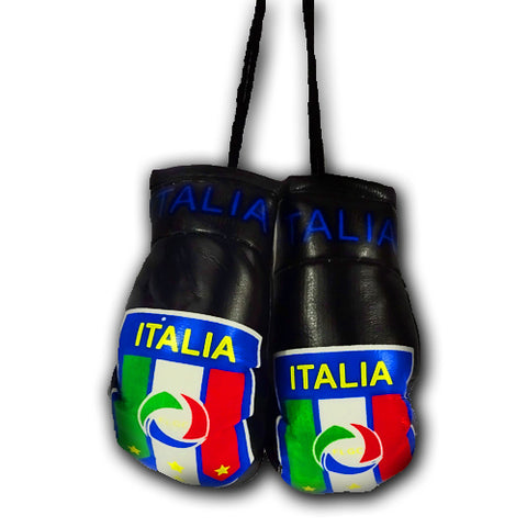 ITALIA BLACK MINI BOXING GLOVES