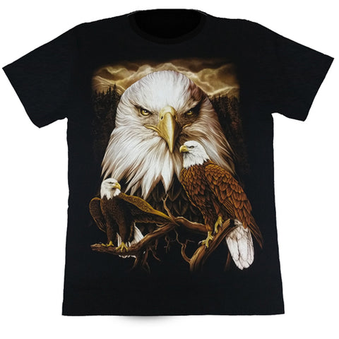 3 Eagles Black T Shirt