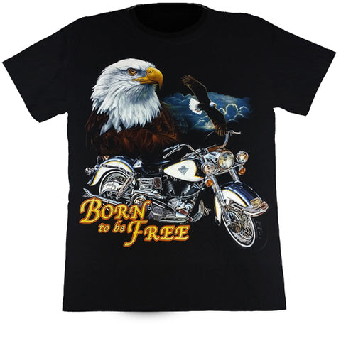 Born To Be Free Black T Shirt