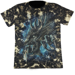 Dragon Monster Black Tie-Dye T Shirt