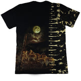 Native Chief Studded Black Tie-Dye T Shirt