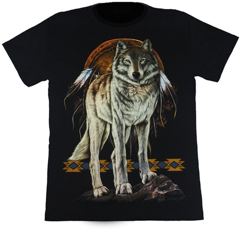 Wolf & Dreamchaser Black T Shirt