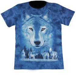 Wolves Blue Tie-Dye T Shirt
