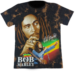Bob Marley Brown Tie-Dye Glow In The Dark T-Shirt