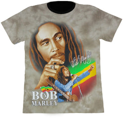 Bob Marley Light Brown Tie-Dye T-Shirt