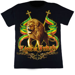 LION OF JUDAH - Black T-Shirt