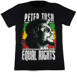 "PETER TOSH ""EQUAL RIGHTS"" - Black T-Shirt"