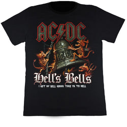 ACDC Hell's Bells Black T Shirt