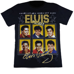 Swing Out And Sound Off With Elvis Presley Black T Shirt
