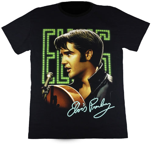 Elvis Presley Black T Shirt