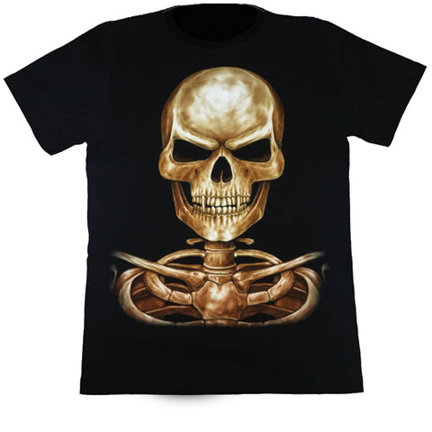 Large Skull Black T Shirt