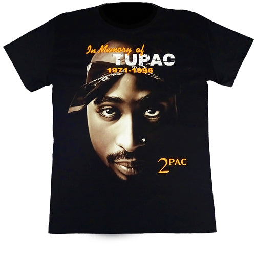 In Memory Of Tupac Black T Shirt
