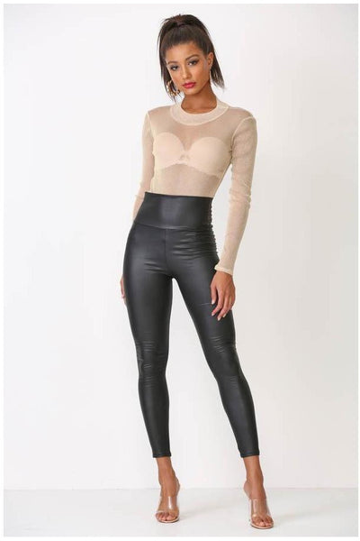 FAUX LEATHER PANTS - The Envy Shoetique