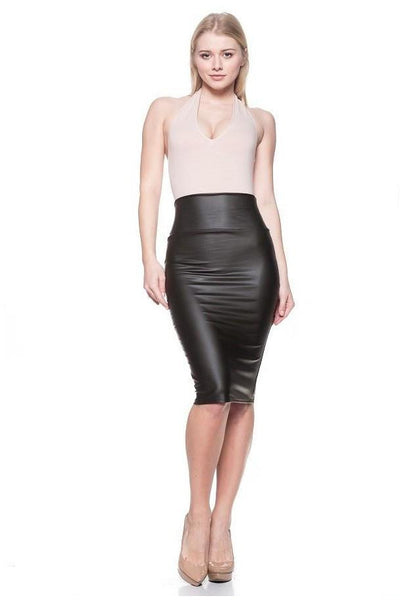FAUX LEATHER SKIRT - The Envy Shoetique