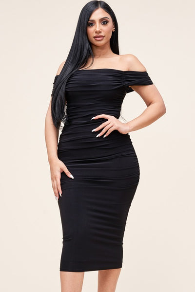 ALL THAT CLASS  MIDI DRESS (BLACK)