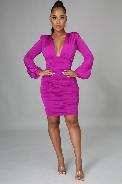 DO YOU MIND MINI DRESS (MAGENTA)