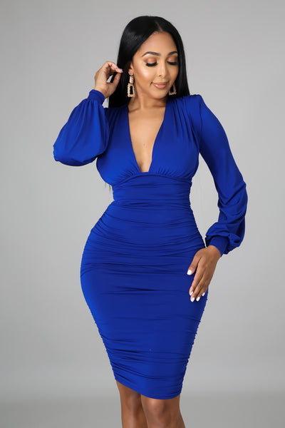 DO YOU MIND MINI DRESS (ROYAL BLUE)