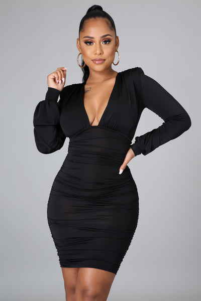 DO YOU MIND MINI DRESS (BLACK)