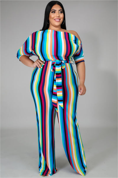 ALL ABOUT COLOR JUMPSUIT - PLUS - The Envy Shoetique