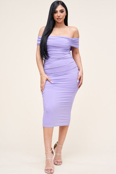 ALL THAT CLASS MIDI DRESS (LT PURPLE)