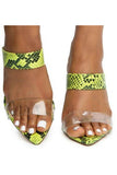 NIVEYA (Lime Snake) - The Envy Shoetique