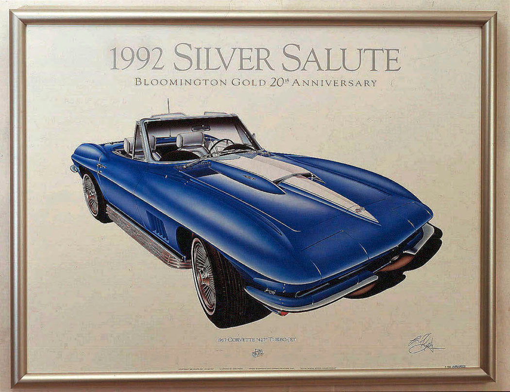 SAMPLE SCREENLESS LITHOGRAPH FRAMED - AutomotiveFineArt.com