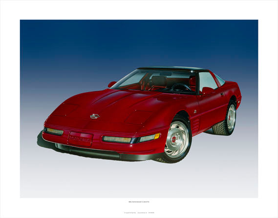 40TH ANNIVERSARY CORVETTE - AutomotiveFineArt.com